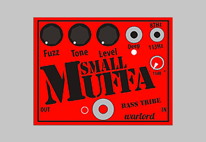 image of the Small Muffa Bass Fuzz, a bass pedal by Warlord