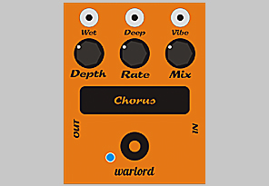 image of the Bass Chorus pedal, a bass pedal by Warlord