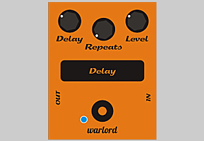 Warlord Digital Delay guitar pedal WDD